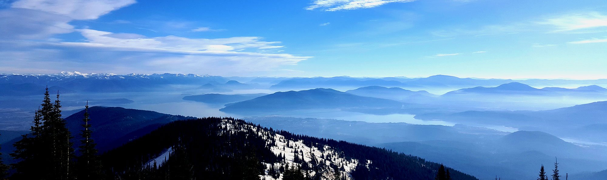 View of Sandpoint Idaho and Lake Pend Oreille